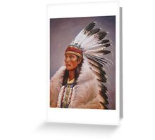 Chief Standing Wolf Greeting Card