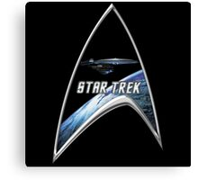 StarTrek Command Silver Signia excelsior Canvas Print