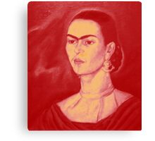 FRIDA IN RED AND YELLOW Canvas Print