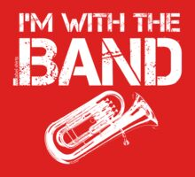 I'm With The Band - Tuba (White Lettering) Kids Clothes