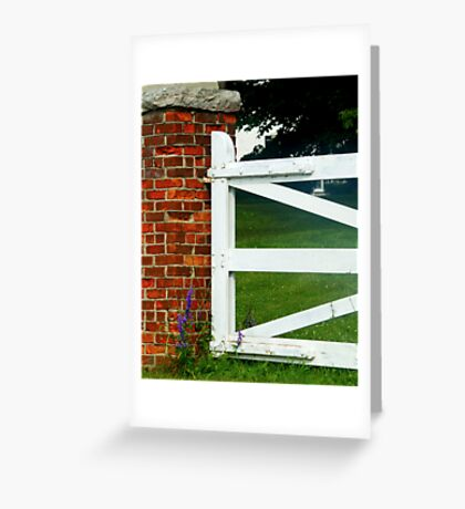 Estate Gate Greeting Card