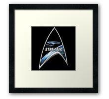 StarTrek Command Silver Signia Enterprise D Framed Print