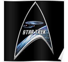 StarTrek Command Silver Signia Enterprise D Poster