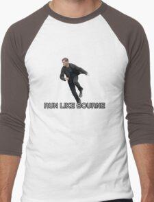 Run Like Jason Bourne  Men's Baseball ¾ T-Shirt