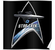 StarTrek Command Silver Signia Enterprise 2009 Poster