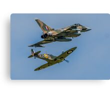 Typhoon & Spitfire Synchro 2015 Canvas Print