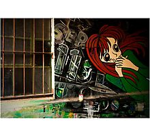 Red Head Graffiti  Photographic Print