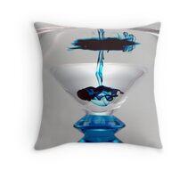 Light Box - Blue Martini Drizzle 1 Throw Pillow