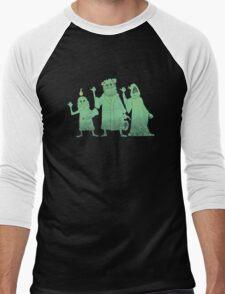 Hitch-hiking Christmas Ghosts Men's Baseball ¾ T-Shirt