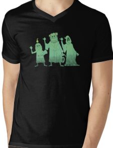 Hitch-hiking Christmas Ghosts Mens V-Neck T-Shirt