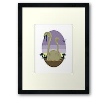 Primeval World - Brontosaurus Framed Print