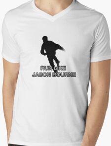Run Like Jason Bourne (2.0) Mens V-Neck T-Shirt
