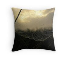 COBWEBS AND DEW DROPS Throw Pillow