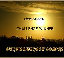 Challenge Winner Banner for Sunrise/Sunset 'Scapes by MidnightMelody