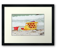 Just another day at the Beach Framed Print