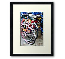 Amsterdam Bikes Framed Print