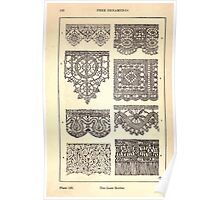 A Handbook Of Ornament With Three Hundred Plates Franz Sales Meyer 1896 0208 Free Ornaments Lace Border Poster