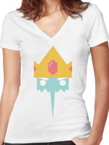 Adventure Time // Ice King Women's Fitted V-Neck T-Shirt