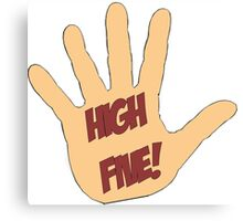 High Five! in comic style Canvas Print