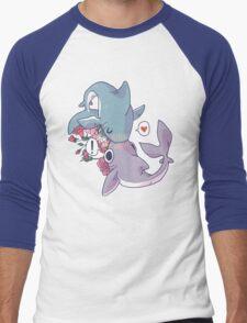 Sharky Smooches Men's Baseball ¾ T-Shirt