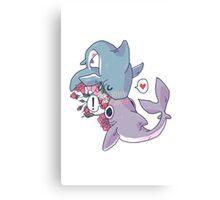 Sharky Smooches Canvas Print