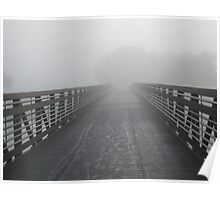 Dreary Bridge Before Sunrise Poster