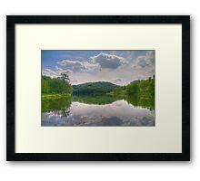 Cox Hollow Lake Framed Print