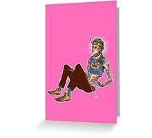 Punk!Loki Greeting Card