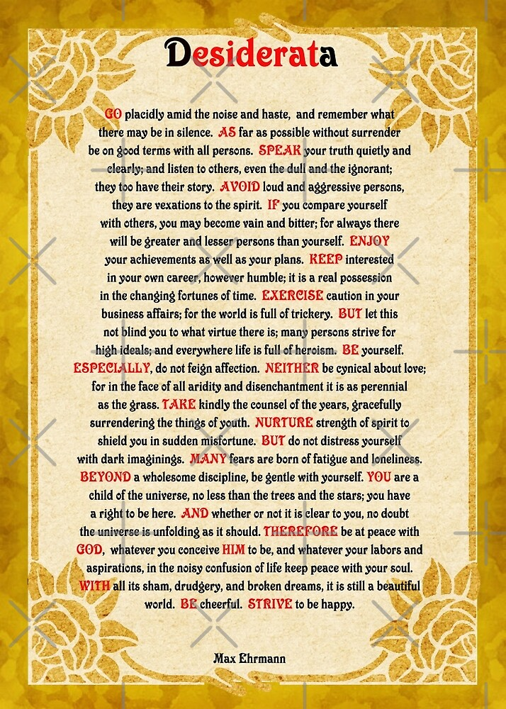 Desiderata (Desired Things) by Vickie Emms