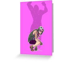 Punk!Bruce Greeting Card