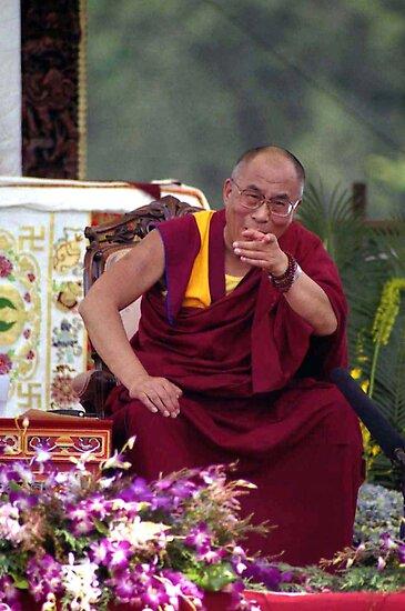 His Holiness the Dalai Lama - Washington D.C.  A.D.  2000 by Matsumoto