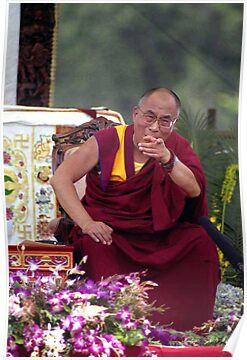 His Holiness the Dalai Lama - Washington D.C.  A.D.  2000 by Matsumoto
