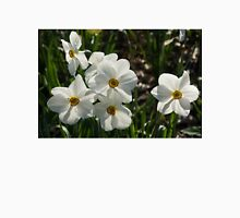 Sparkling, Fabulous White Narcissus with a Touch of Red T-Shirt