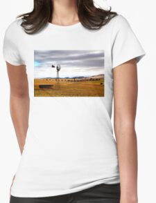 Australian Rural Landscape Womens Fitted T-Shirt