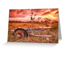 Outback windmill in Queensland, Australia Greeting Card