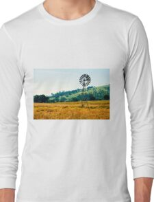 Outback windmill in Queensland, Australia Long Sleeve T-Shirt
