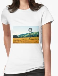 Outback windmill in Queensland, Australia Womens Fitted T-Shirt