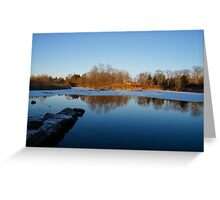 Early Morning Blues - Cold Light at Sunrise Greeting Card