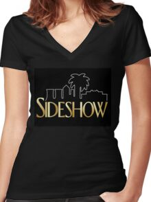 Sideshow Crane Women's Fitted V-Neck T-Shirt