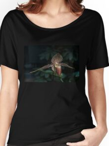 Exotic Dark Beauty in Stripes Women's Relaxed Fit T-Shirt