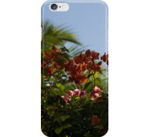 Palm Trees and Tropical Flowers iPhone Case/Skin