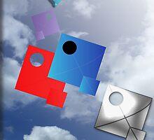 Flotilla - Flock of Soaring Kites by mindprintz