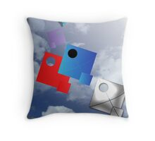 Flotilla - Flock of Soaring Kites Throw Pillow