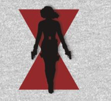 Black Widow Silhouette by WinterAvenger