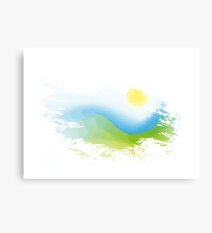 Abstract nature landscape Canvas Print