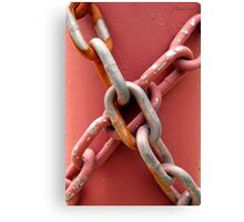 Linked in Pink Canvas Print