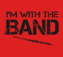 I'm With The Band - Flute (Black Lettering) Kids Clothes