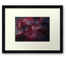 Stormy Night - acrylic on canvas Framed Print