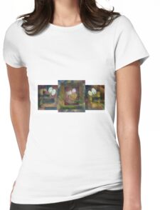 Between the Sidewalk Lines Womens Fitted T-Shirt