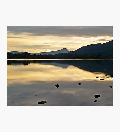 Dusk At Lake Menteith, Scotland. Photographic Print